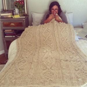mama and blanket