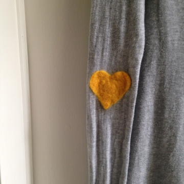 Gold, DIY elbow patches